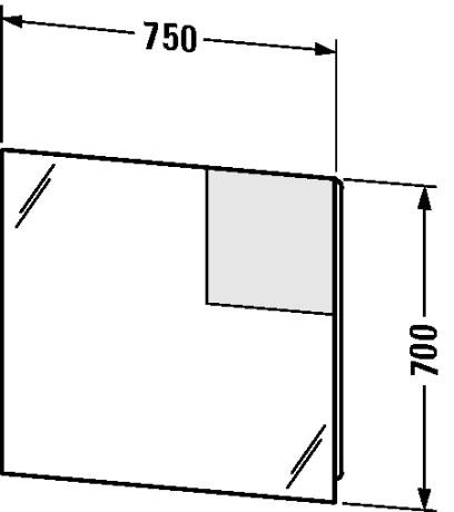 Duravit - Starck meubels Meubels Spiegel met verlichting #S19718 van ...