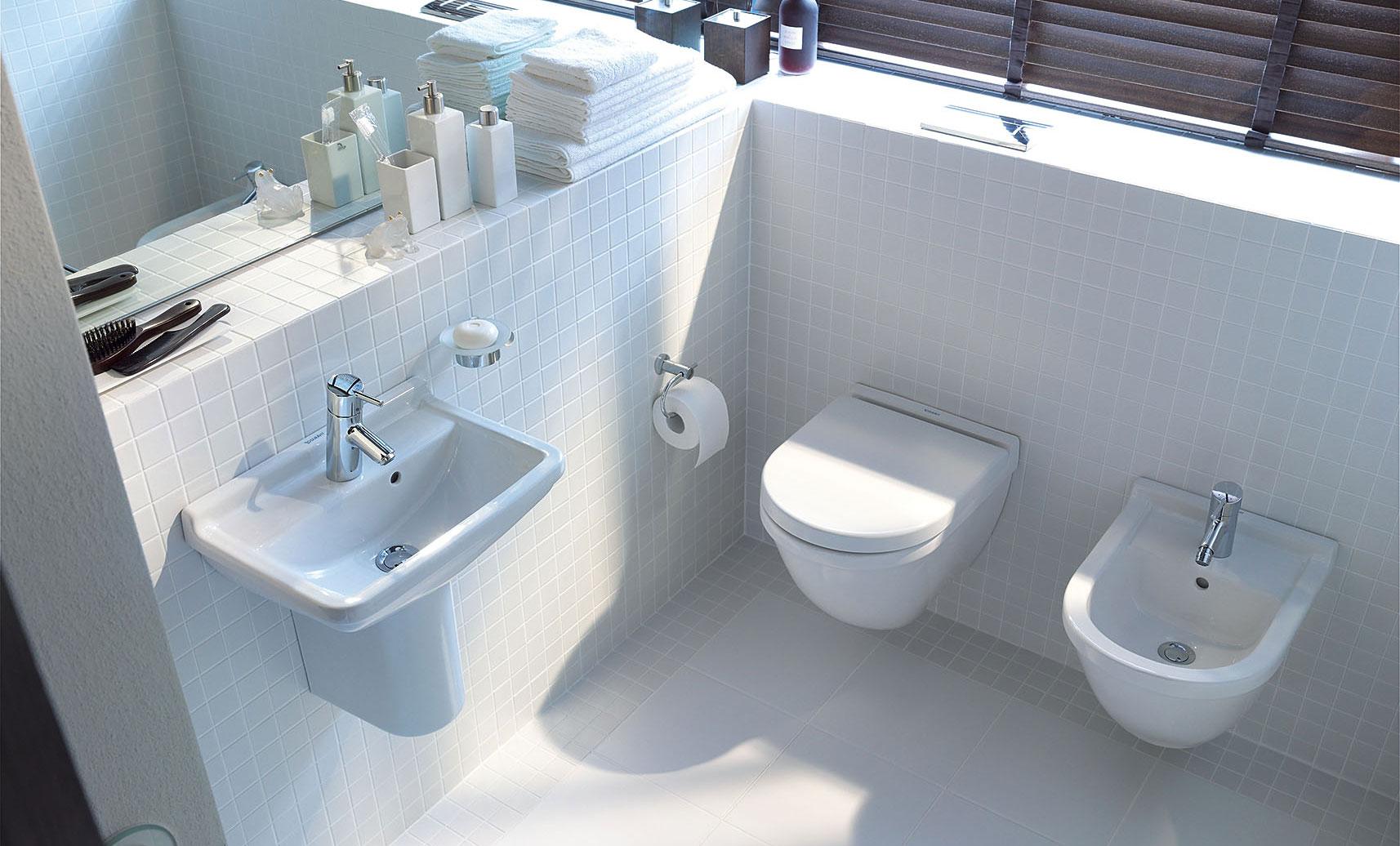 Grote Frisse Badkamer : Gastenbadkamer duravit